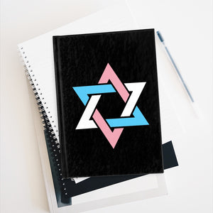 Transgender Pride Star of David Journal - Line Ruled
