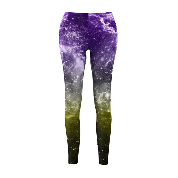Non-Binary Pride Galaxy Casual Leggings
