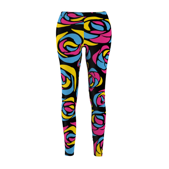 Pansexual Pride Rose Casual Leggings