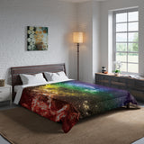Rainbow Gay Pride Galaxy Comforter