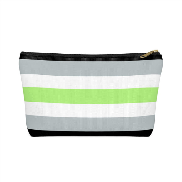 Agender Pride Accessory or Makeup Pouch w T-bottom