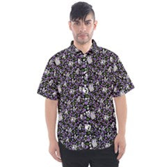Genderqueer Pride Scattered Skulls Men's Short Sleeve Shirt