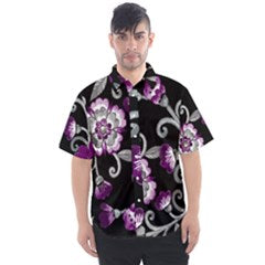 Asexual Pride Painted Floral Unisex Short Sleeve Shirt