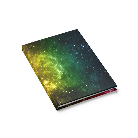 Pansexual Pride Galaxy Journal - Line Ruled
