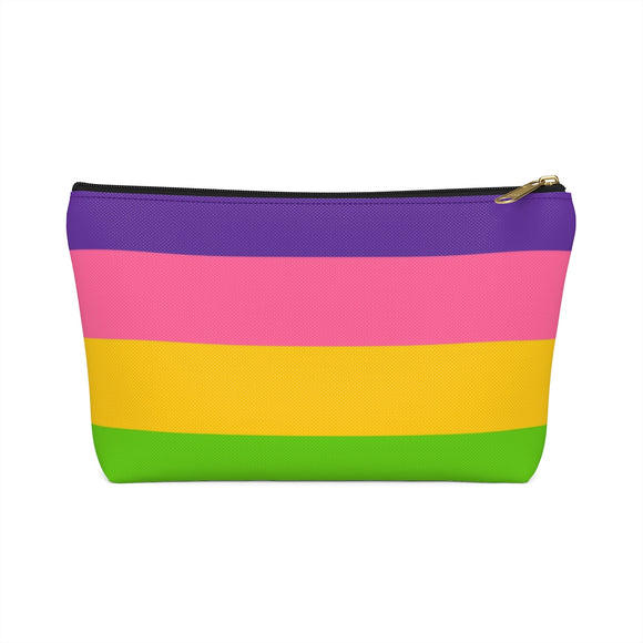 Lesbian Pride Accessory or Makeup Pouch w T-bottom