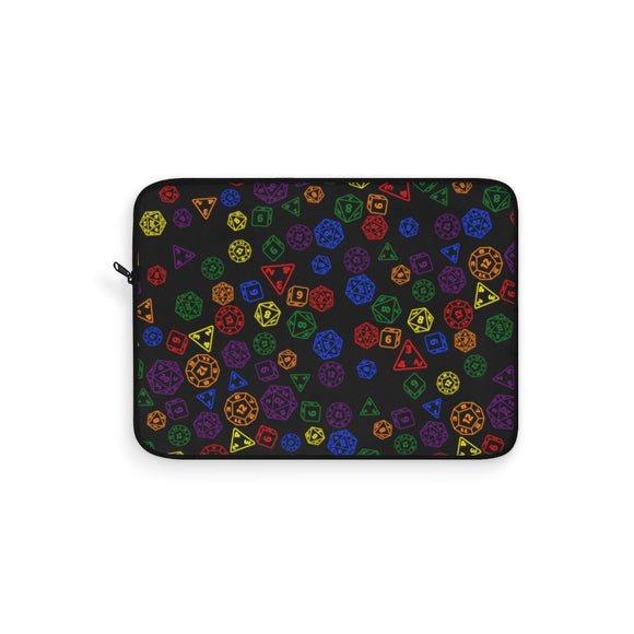 Rainbow Gay Pride Scattered Dice Laptop Sleeve