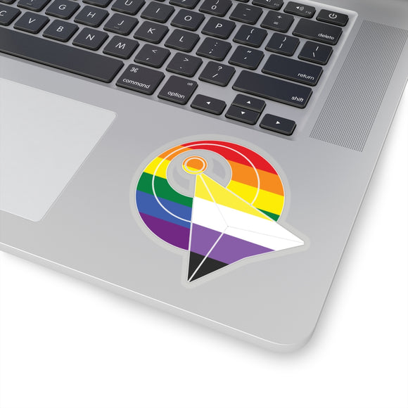 IDIC Rainbow Gay and Non-Binary Pride Kiss-Cut Stickers