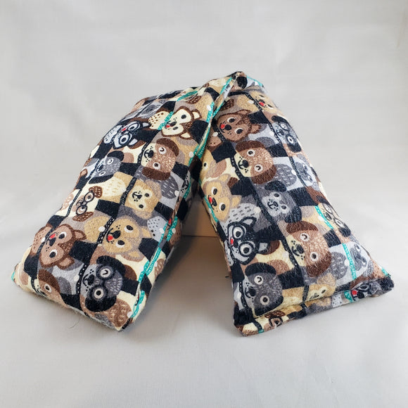 Cartoon Dogs Being Good Cotton Flannel Heat & Cold Pack