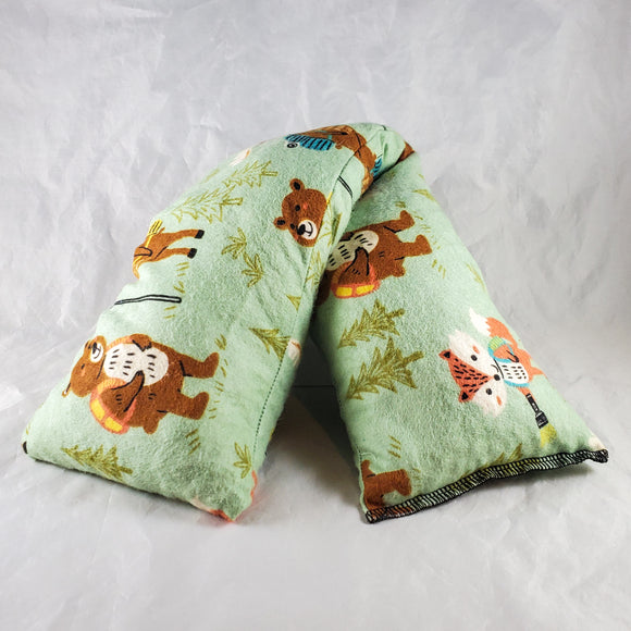 Camping Bears and Foxes Cotton Flannel Heat & Cold Packs