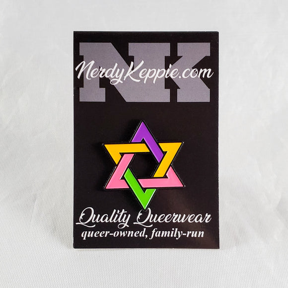Faith & Pride Star of David Pins