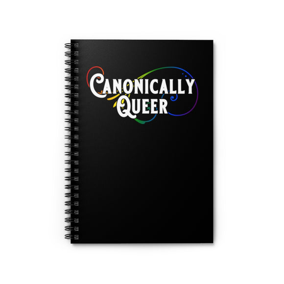 Canonically Queer Pride Spiral Notebook - Ruled Line