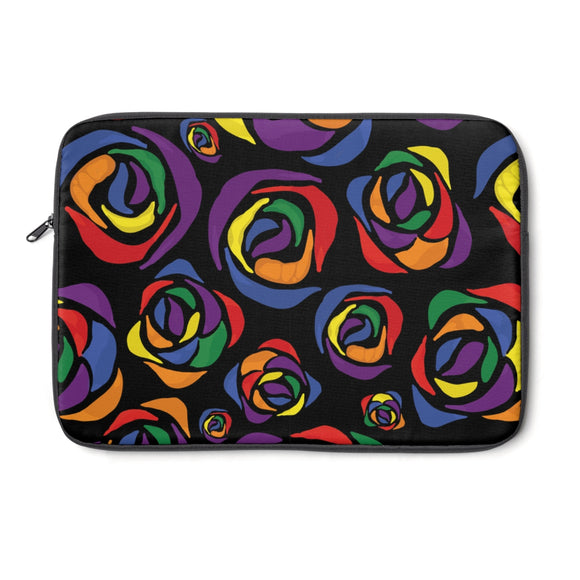 Rainbow Gay Pride Roses Laptop Sleeve