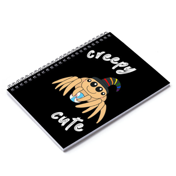 Creepy Cute Spider Spiral Notebook - Ruled Line