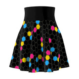 Pansexual Pride Honeycomb Skater Skirt