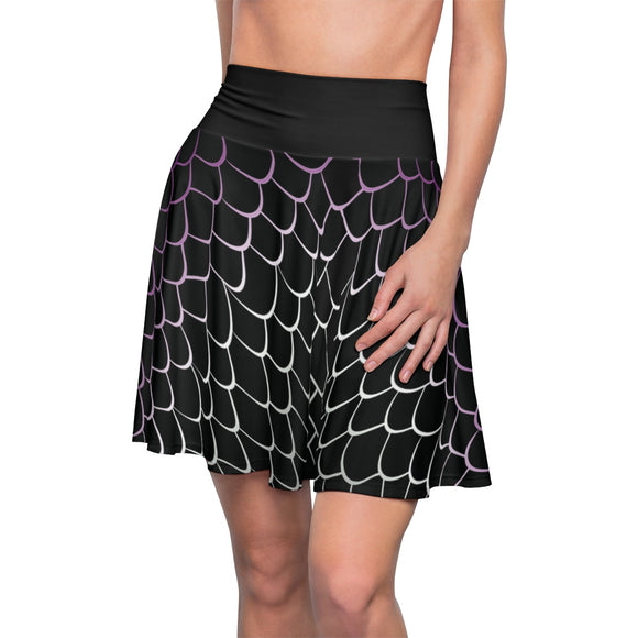 Asexual Pride Dragonscale Skater Skirt