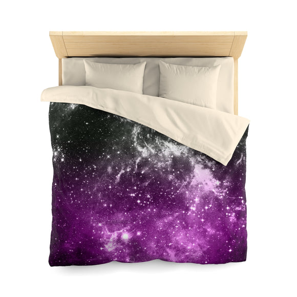 Asexual Pride Galaxy Microfiber Duvet Cover