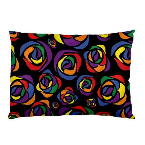 Rainbow Gay Pride Roses Pillow Case
