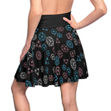 Transgender Pride Scattered Dice  Skater Skirt