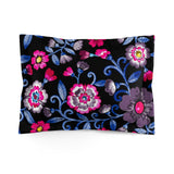 Bisexual Pride Painted Floral Microfiber Pillow Sham