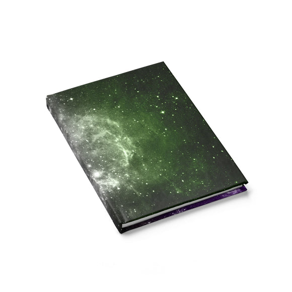 Genderqueer Pride Galaxy Journal - Line Ruled