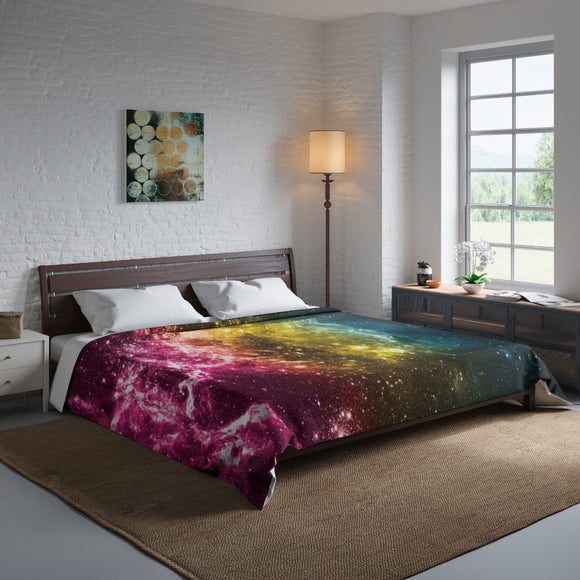 Pansexual Pride Galaxy Comforter