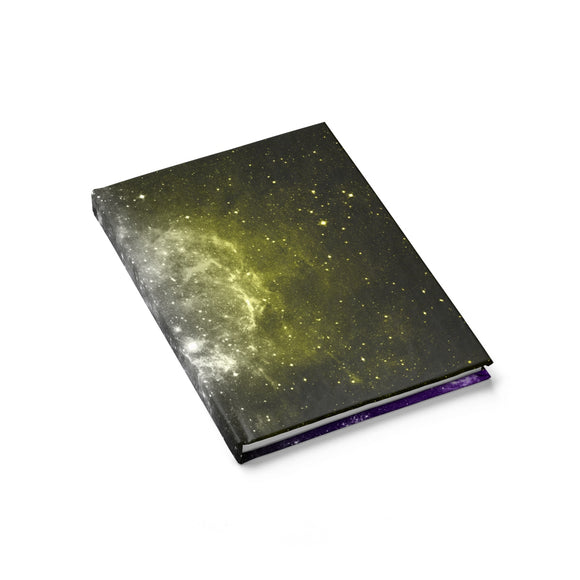 Non-Binary Pride Galaxy Journal - Line Ruled