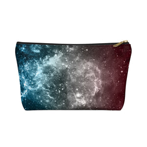 Transgender Pride Galaxy Accessory or Makeup Pouch w T-bottom
