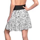 Animal Skeletons In White Skater Skirt
