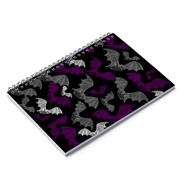 Asexual Pride Engraved Bats Spiral Notebook - Ruled Line