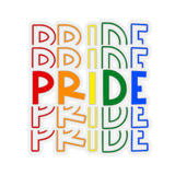 "Rainbow Gay Pride ""PRIDE"" Kiss-Cut Stickers"