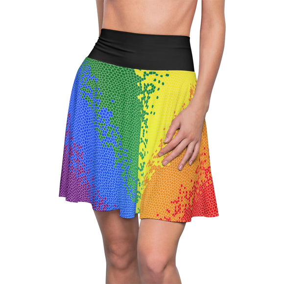 Rainbow Gay Pride Flag Mosaic Skirt