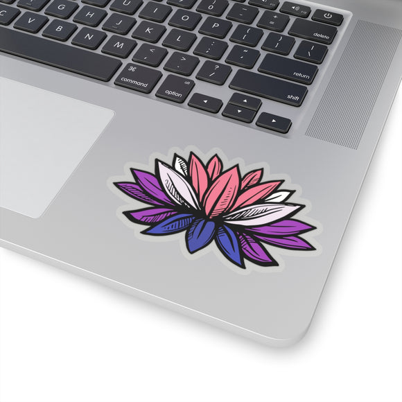 Genderfluid Pride Lotus Kiss-Cut Stickers