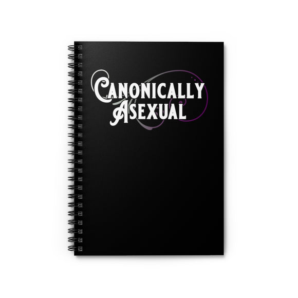 Canonically Asexual Pride Spiral Notebook - Ruled Line