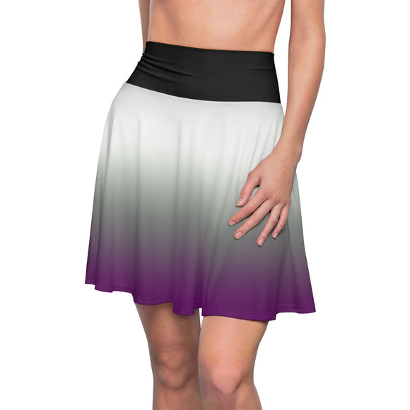 Asexual Pride Soft Fade Skater Skirt