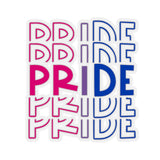 "Bisexual Pride ""PRIDE"" Kiss-Cut Stickers"