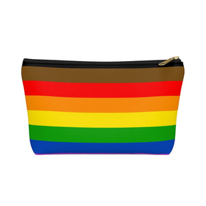 More Color More Pride Accessory or Makeup Pouch w T-bottom
