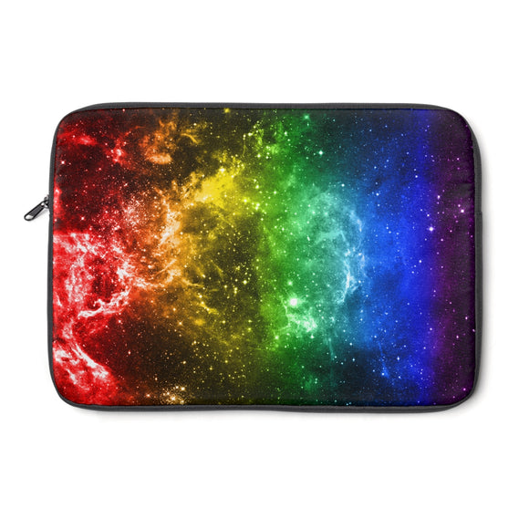 Rainbow Gay Pride Galaxy Laptop Sleeve