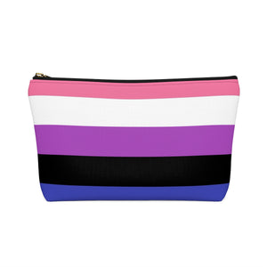 Genderfluid Pride Accessory or Makeup Pouch w T-bottom