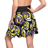 Non-Binary Pride Flag Roses Skater Skirt