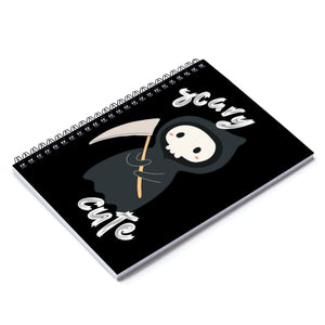Scary Cute Reaper Spiral Notebook - Ruled Line