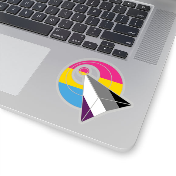 IDIC Pansexual and Asexual Pride Kiss-Cut Stickers