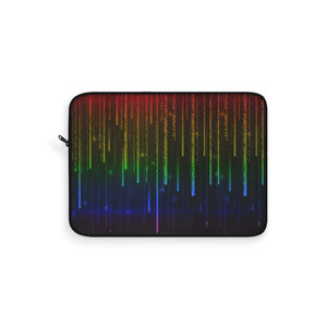 Rainbow Gay Pride Matrix Laptop Sleeve