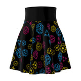 Pansexual Pride Scattered Dice  Skater Skirt