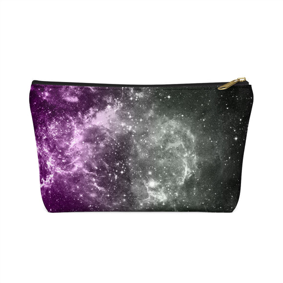 Asexual Pride Galaxy Accessory or Makeup Pouch w T-bottom