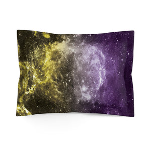 Non-Binary Pride Galaxy Microfiber Pillow Sham