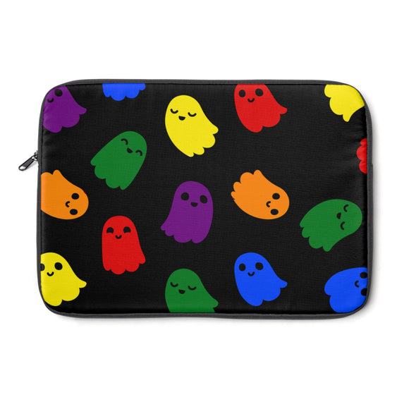 Rainbow Gay Pride Ghosts Laptop Sleeve