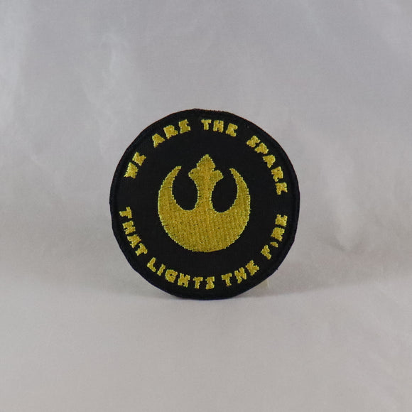 We Are The Spark That Lights The Fire Rebel Emblem Patch