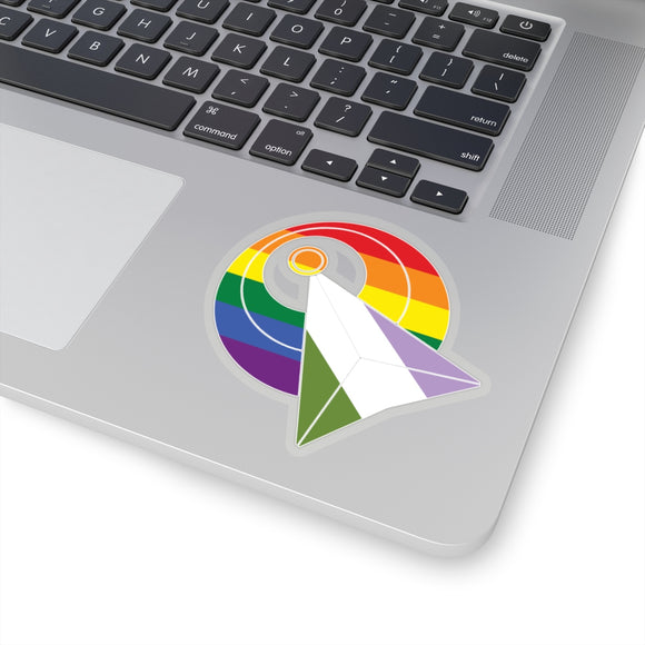 IDIC Rainbow and Genderqueer Pride Kiss-Cut Stickers