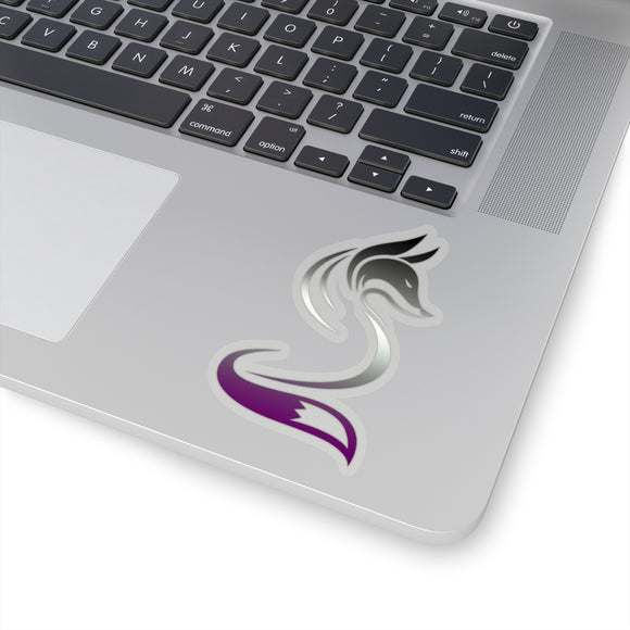 Asexual Pride Fox Kiss-Cut Stickers