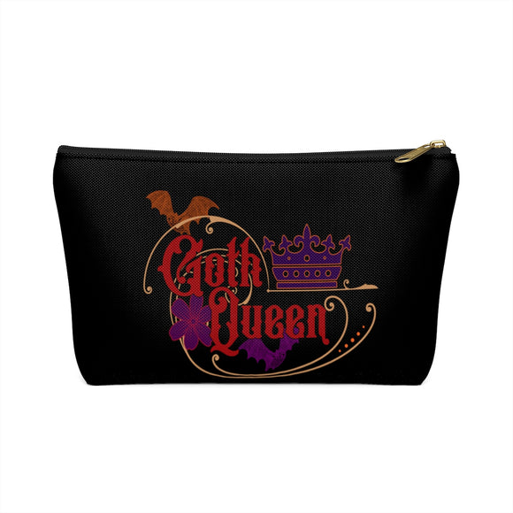 Goth Queen Accessory or Makeup Pouch w T-bottom